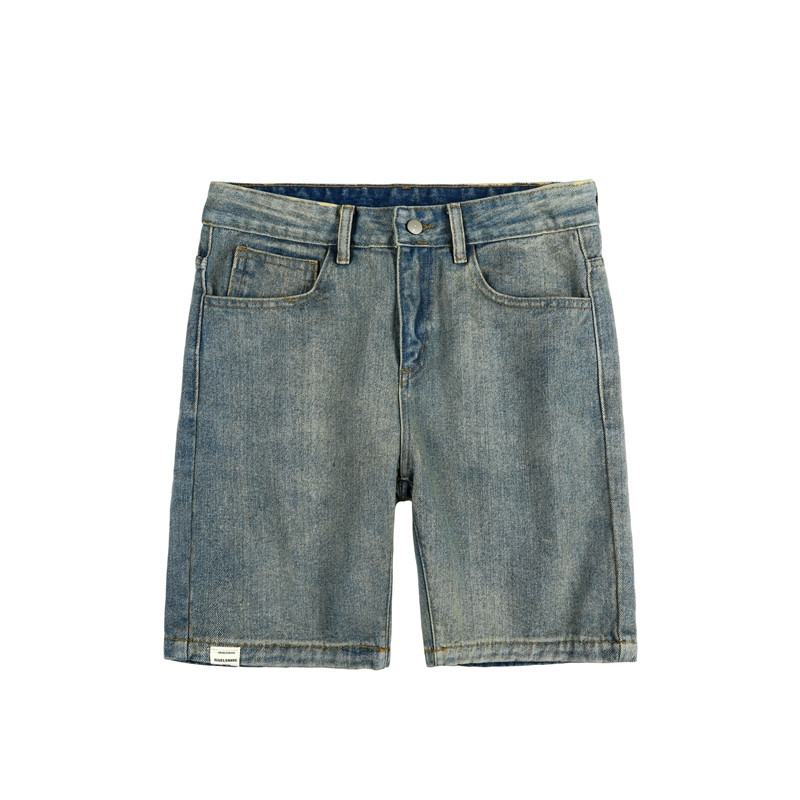 Summer Men's Shorts Stretch Denim Business Casual Cargo Fashion Elastic Waist Drawstring Jeans Shorts Bermuda Plus Size EE5DK