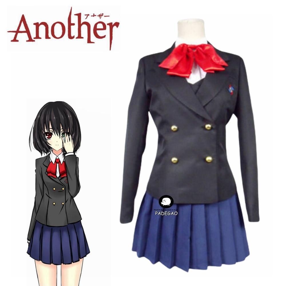 Another Misaki Mei Akazawa Izumi Costume Anime Cosplay Women Girls School JK Uniform Skirt Costume Wig Halloween Long Sleeve