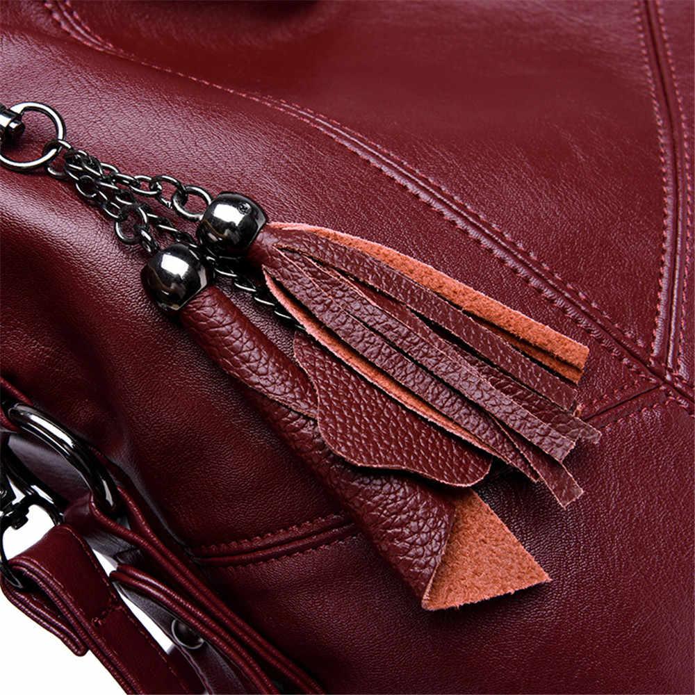 Yumuşak deri püskül lüks çanta kadın çanta tasarımcı çantaları yüksek kalite bayanlar Crossbody el bez çantalar kadınlar için 2019