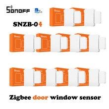 8/1 pcs sonoff zigbee capteur de porte de maison intelligente détecteur de fenêtre SNZB-04 capteur soutien alexa google maison IFTTT zbbridge ewelink