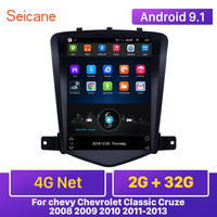 Seicane 4G Net RAM 2GB Android 9.1 Car Head Unit Player GPS 9.7 inch for chevy Chevrolet Classic Cruze 2008 2009 2010 2011 2013