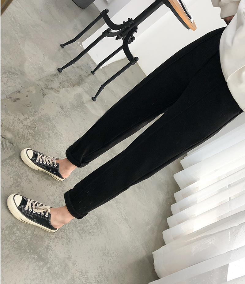 H77236315aefc4e0982df6c036350bdbdF - Thicken Women Pencil Pants Autumn Winter Plus Size OL Style Wool Female Work Suit Pant Loose Female Trousers Capris 6648 50