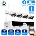 Система видеонаблюдения Jooan, 8 каналов, NVR, HD, 3 Мп, P2P, Wi-Fi