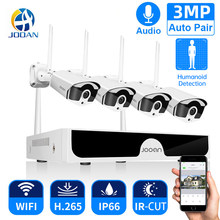 Jooan 8CH NVR HD 3MP CCTV Kamera System Audio Record Outdoor P2P Wifi IP Security Kamera Set Video Überwachung Kit