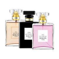 50 мл парфюм для женщин, стойкий аромат для женской парфюмерии, стеклянный флакон, натуральный распылитель воды