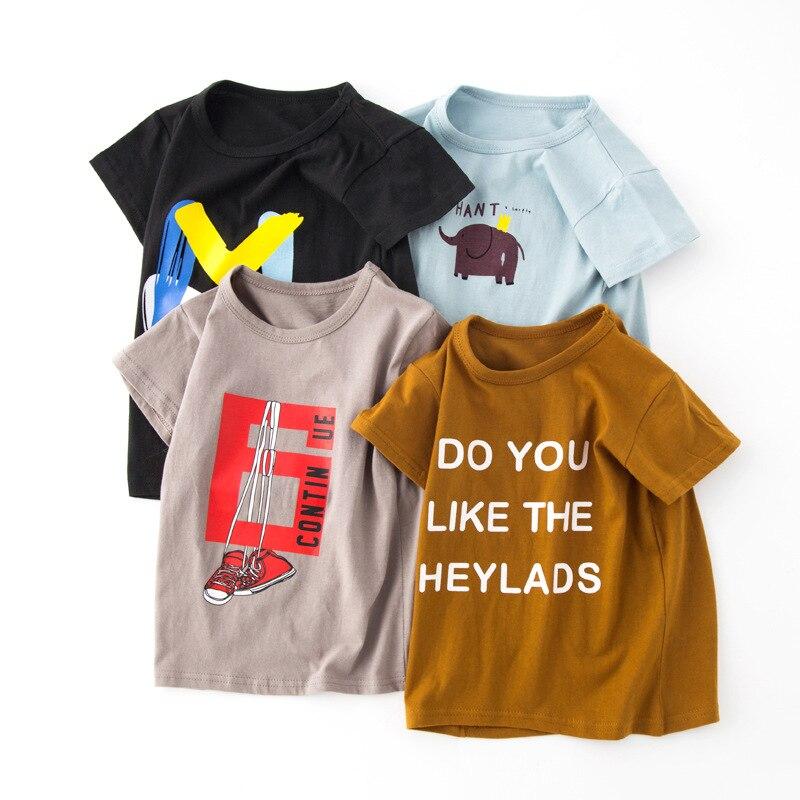 VIDMID New Baby Girls Boys T-Shirts tees children Cotton Short Sleeve tees Kids T-Shirts Child cartoon Clothing Tops 7070 02 2