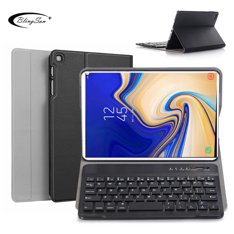 Bluetooth keyboard Tablet Case for <font><b>Samsung</b></font> Galaxy Tab A 8.0 2019 SM-T290 SM-T295 290 295 Wireless Keyboard Tablet Cover Leather image