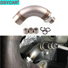 DSYCAR 1Set Stainless Steel J-Style Oxygen Sensor Connector Sensor Restrictor Fitting Adjustable Gas Flow Inserts free shipping ke 50 oxygen sensor gas sensor ke 25 sensor ke 25f3 sensor