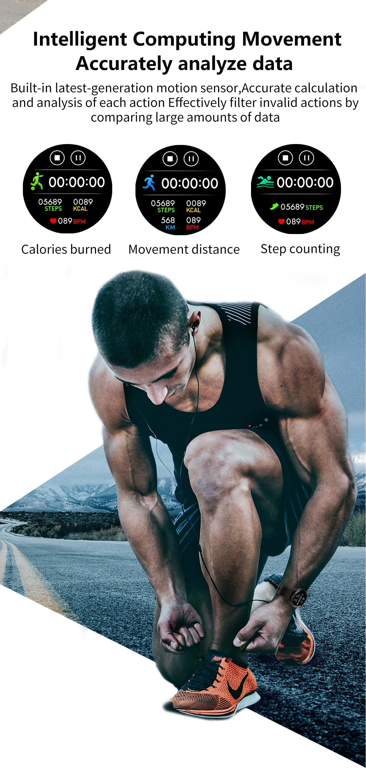 H7723b9303ce7450abefc4c7b6e03b14eN LEMFO F15 Full Touch Screen Smart Watch Men 5D Case