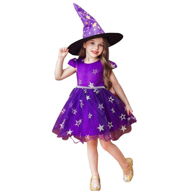 فستان عيد الميلاد هالوين زي حفلة أطفال أطفال تأثيري حلي للبنات فستان مع قبعة 3 5 7 9 11 13 سنة