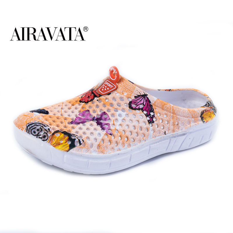 Slippers Men Women House Indoor Sandals Bath Slipper Butterfly Printed Garden Clog Beach Water Shoes 16 Colors Size 36-45