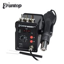 110 فولت/220 فولت 700 واط Eruntop 858D + SMD ESD محطة لحام LED الرقمية لحام الحديد الساخن مسدس هواء Blowser ترقية 858D