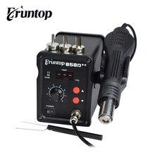 110V/220V 700W Eruntop 858D + + SMD stacja lutownicza ESD LED cyfrowy lutownica Hot wiatrówka Blowser ulepszony 858D