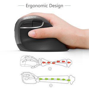 Image 2 - Delux M618Mini GX  Ergonomic Mouse Wireless 2.4GHz  Mouse  1600 DPI Vertical Mice 6 Buttons For Computer and Laptop