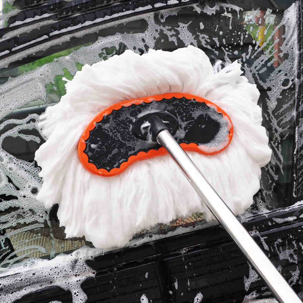 Car Cleaner Brush Kit Car Window Windshield Cleaning Adjustable Telescopic Cleaning Wiping Soft Milk Silk Mop Wash Brush Tool