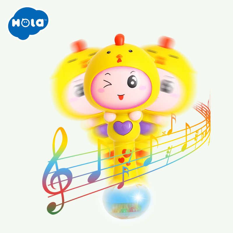 HOLA 3101, детские игрушки, 0-12 месяцев, детская погремушка, шейкер, песок для малышей, музыкальная игрушки-шейкеры для младенцев, для раннего обучения, обучающая игрушка