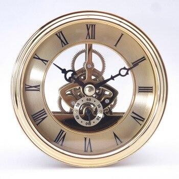 97mm diameter retro bell golden Craft table clock accessories metal movement  prayer clock  home  clockes Fashion design