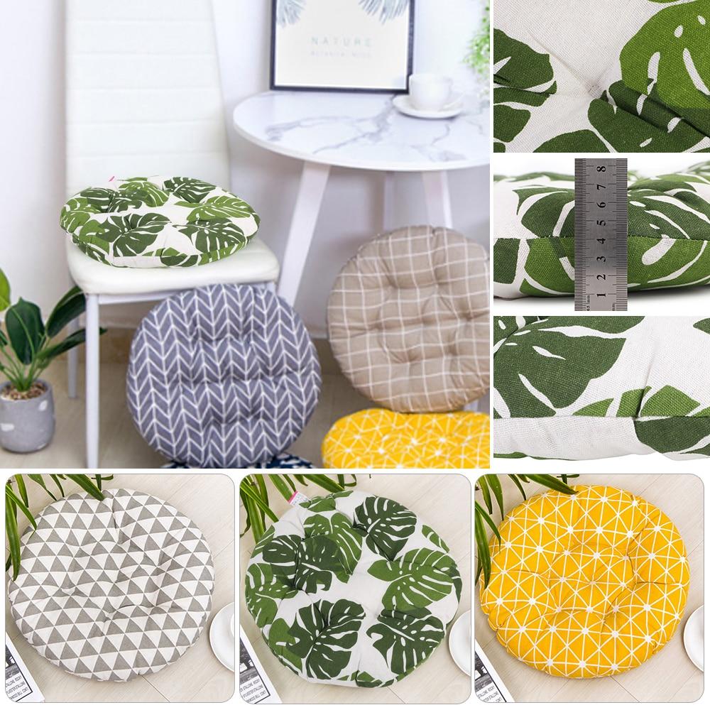 Cojín de algodón grueso redondo/cuadrado, asiento de oficina en casa, Bar, silla de comedor, almohadillas para asiento de suelo de jardín, 40x40cm, 9 estilos