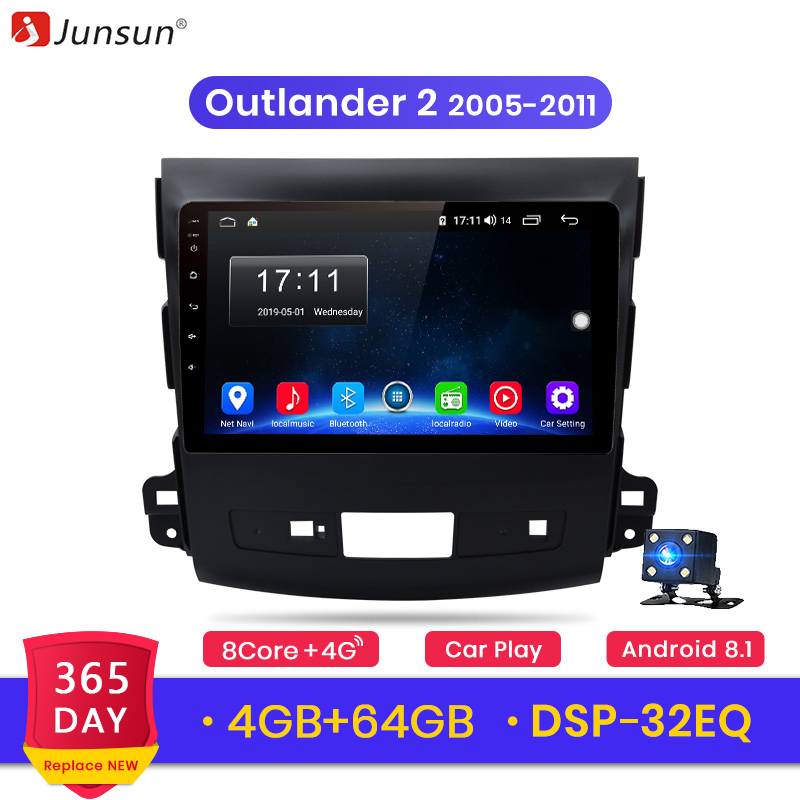 Junsun V1 Android 9.0 2G+32G 4G Car Radio Multimedia Player Navigation GPS For Mitsubishi Outlander xl 2 2005 2011 2din no DVD-in Car Multimedia Player from Automobiles & Motorcycles    1
