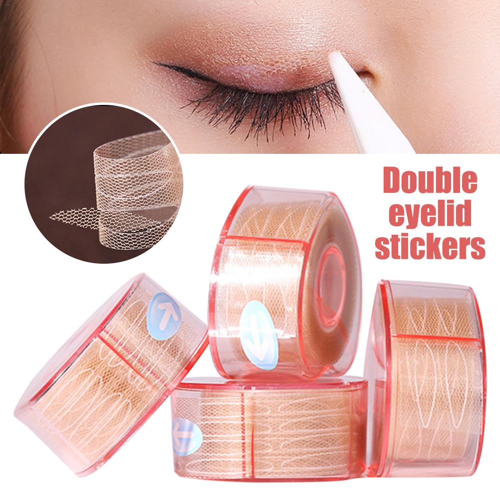 Ultra Invisible Fiber Lace Eyelid Lift Kit Natural Waterproof Sweatproof Eyelid Lifting Stickers Double Eye Tape Tools