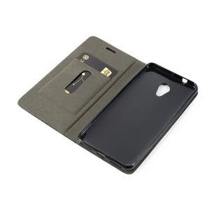 Image 4 - Роскошный чехол книжка из искусственной кожи для Meizu M5S A5, чехол книжка с бумажником для Meizu M5 M5C, деловой чехол для телефона, Мягкая силиконовая задняя крышка из ТПУ