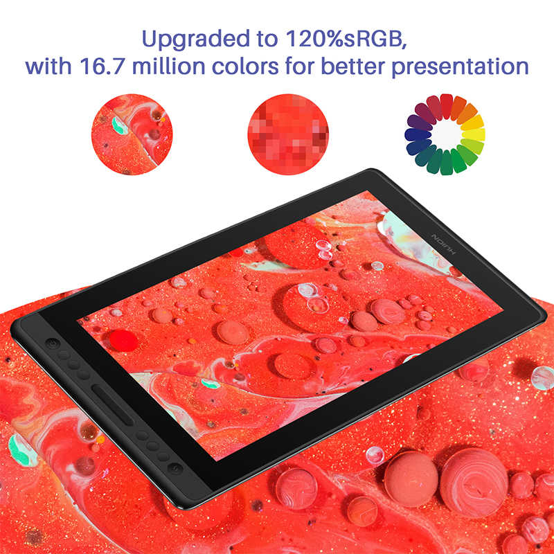 Huion kamvas プロ 16 描画デジタルペンタブレットモニターデジタルグラフィックタブレットペンディスプレイモニター 15.6 インチバッテリーフリースタイラス