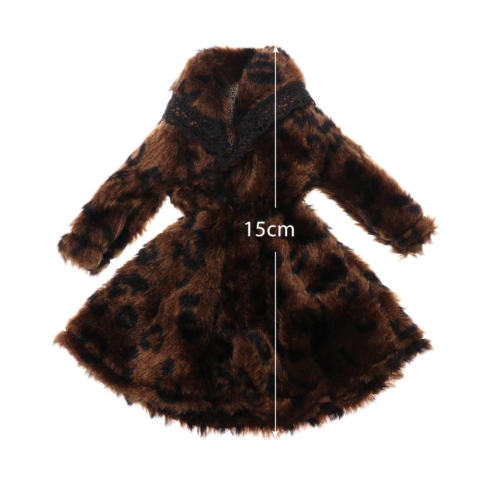 수제 여러 가지 빛깔의 미니 니트 스웨터 모피 코트 인형 액세서리 탑스 캐주얼 드레스 드레싱 의류 바비 인형 어린이 장난감