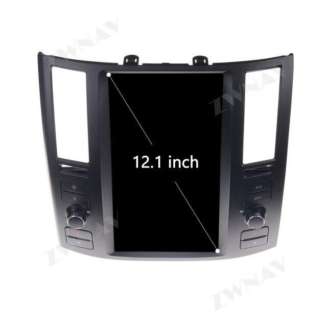 세로 테슬라 화면 인피니티 FX FX25 FX35 FX37 qx70 GPS Navi 라디오 자동 스테레오 용 안드로이드 9.0 차량용 멀티미디어 플레이어 헤드 유닛