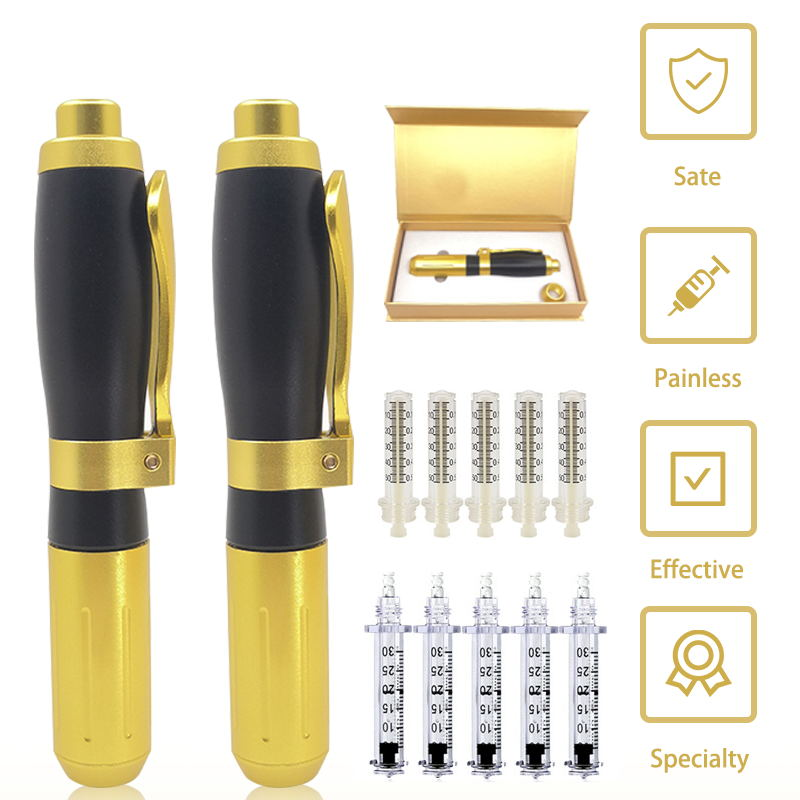 2 In 1 Ialuronico Penna 0.3ml & 0.5ml Hyaluron Pistola Acido Ialuronico Lip Filler Mesoterapia Pistola No- Ago Non Invasiva Nebulizzatore.