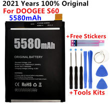 100% original novo para doogee s60 substituição 5580mah bateria de backup para doogee s60 baterias do telefone inteligente bateria + ferramentas presente
