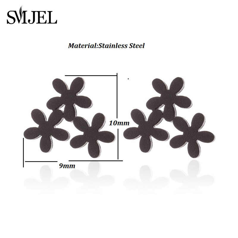SMJEL โบฮีเมียต่างหูดอกไม้เด็กผู้หญิงแฟชั่นสแตนเลสสตีลสับปะรดมะพร้าว Tree of Life STUD ต่างหูเครื่องประดับ pendientes