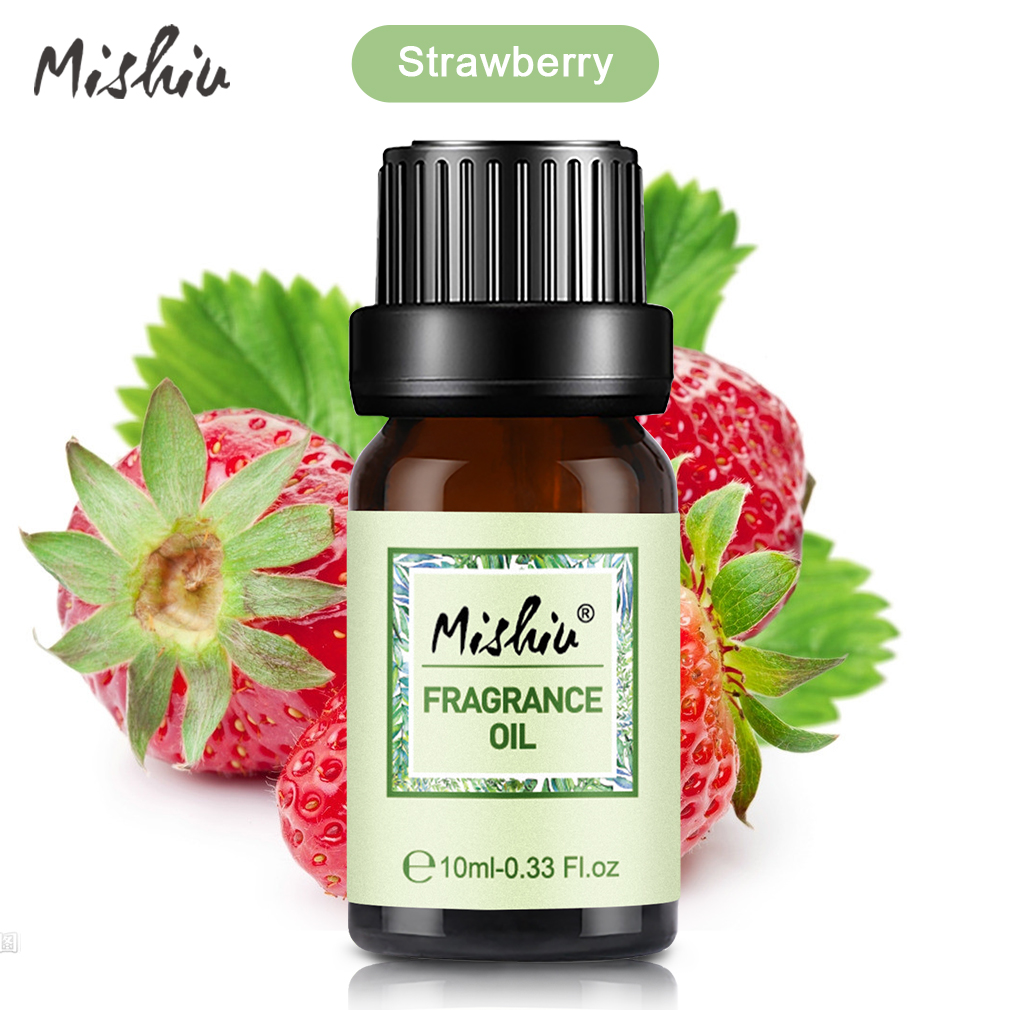 Mishiu 10ML Strawberry Fragrance Oil Natural Spa Oil Flower Fruit Aromatherapy White Musk Oil Body Massage Thermal Diffusers