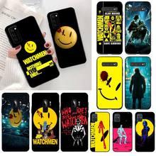 HPCHCJHM Watchmen poster Black TPU Soft Phone Case Cover for Samsung S20 plus Ultra S6 S7 edge S8 S9 plus S10 5G lite 2020 сумка printio хранители watchmen