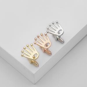 Luxury Cufflinks Rose-Gold High-Quality Accessori Gift Wedding-Laser Men's Business Gloss
