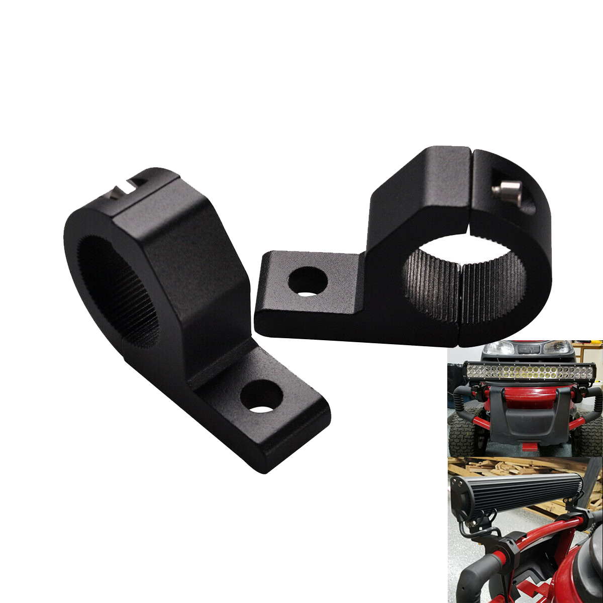 2pcs 1''inch Bar Universal Mount Bracket TUBE CLAMPS For Light Bar Boat,Jeep, Truck, 4x4,Pipe Tude Roll Cage & 2 Size Liners