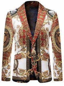 VAGUELETTE Jacket Coat Blazer Black Blue Slim-Fit Stage Floral-Printed Party Golden Luxury