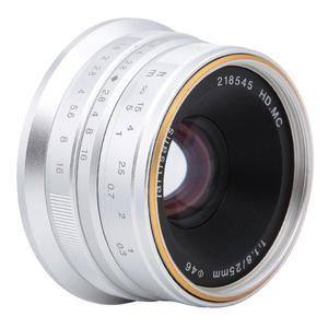 Image 5 - 7 rzemieślników 25mm F1.8 ręczne ustawianie ostrości obiektyw do sony E A5000 A5100 A6300 A6500 dla Canon EOS M dla fuji fx dla Olympus M4/3