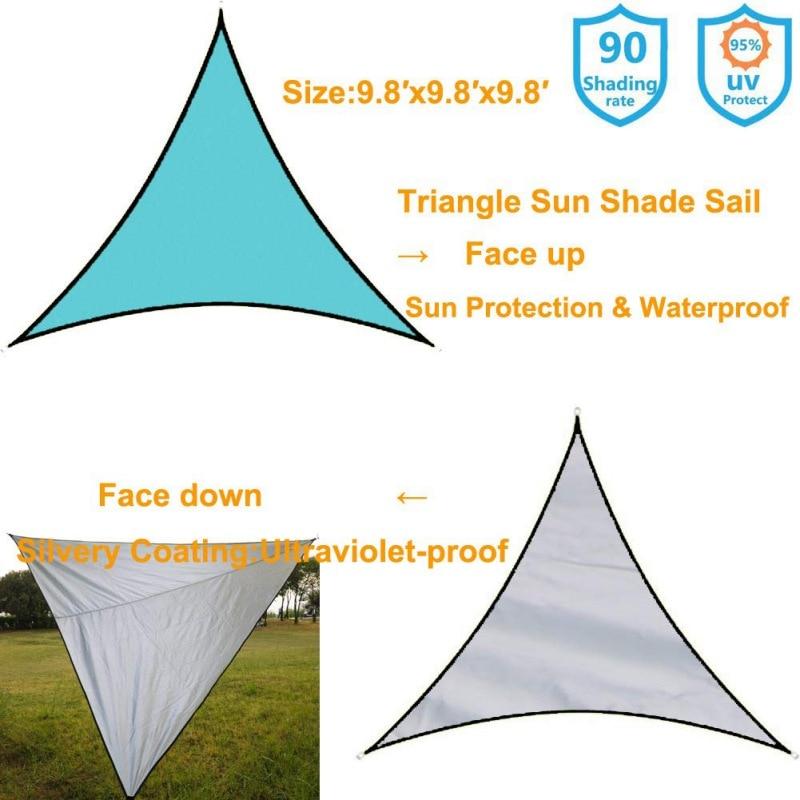 Водонепроницаемый солнцезащитный навес Защита от Солнца Открытый навес сад патио бассейн навес парус тент Кемпинг Пикник палатка верхняя крышка капля