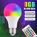 RGB светодиодные лампы светодиодный RGBW с входным напряжением 5 Вт/7 Вт/10 Вт/15 Вт/20 Вт дистанционный Управление Красочные Изменение дома Декора...