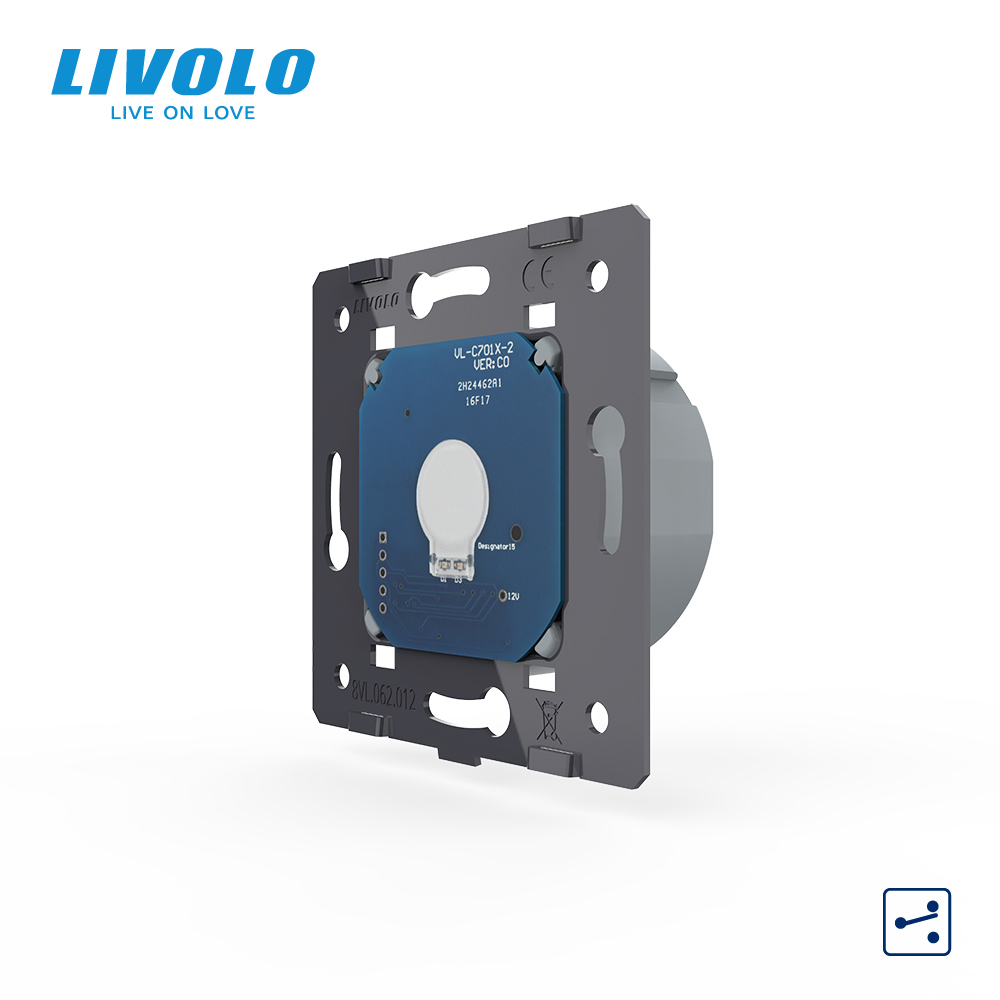 Livolo EU Standard1 Gang 2 Way Control AC 220 250V Wall Light Touch Screen Switch Without Glass PanelVL-C701S