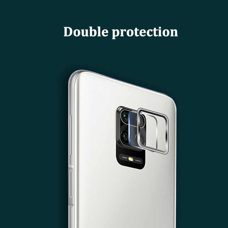 Kamera Lensa Kaca Tempered + Cincin Logam Case untuk Xiaomi Redmi Note 9 Pro Max 9 s Kamera Pelindung Layar untuk Redmi Note9 9 S Film