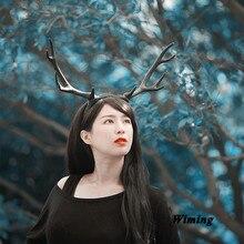 antler headband for women girls cosplay child children baby birthday decoration party supplies deer reindeer