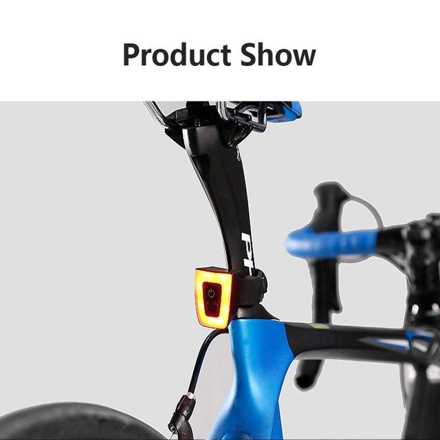 Ciclismo luz traseira usb recarregável lanterna para luz traseira da bicicleta à prova dwaterproof água capacete lanterna traseira ciclismo luz de advertência 3
