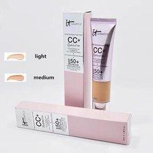 Correcteur de visage CC + crème, éclairage SPF 50, couverture complète, moyenne ou légère, correcteur de imperfections, maquillage pour la peau