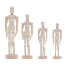 Miniature Figurines Decor Limbs Human-Figure-Model Diy-Crafts Wooden Movable Handmade