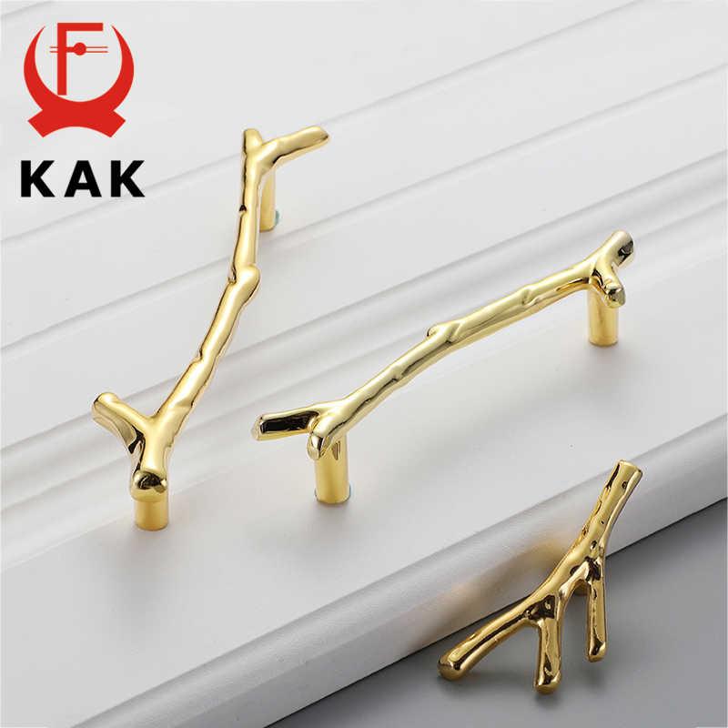 KAK moda ağaç dalı mobilya kolu 96mm 128mm siyah gümüş bronz mutfak dolap kolları çekmece kolları kapı donanım çeker
