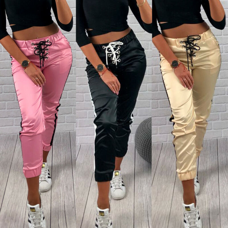 Bandage Skinny Long Trousers Ol Casual Bow-knot Lace Up Fashion Women Slim Comfy Pants Drawstring Women's Sports Tracksuit Pants