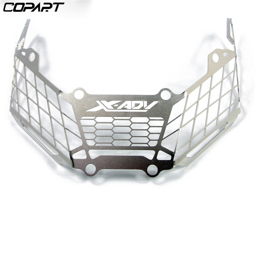 For Honda X ADV XADV X ADV 750 2017 2018 2019 Aluminum Motorcycle Modification Front Headlight Mesh Grille Guard Cover Protector in Covers Ornamental Mouldings from Automobiles Motorcycles
