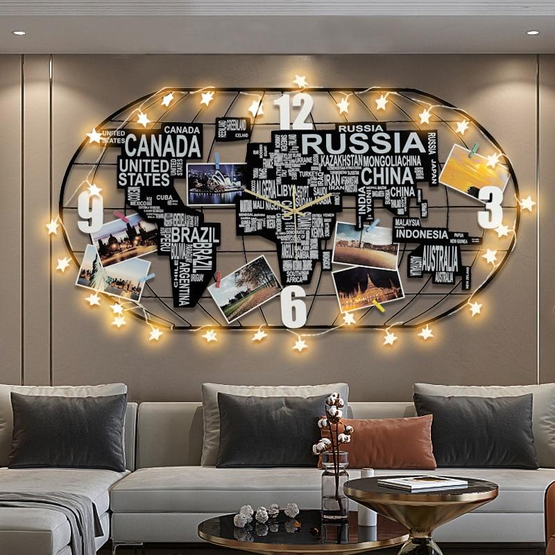 Wall Clock With Led Lgiht Luminous