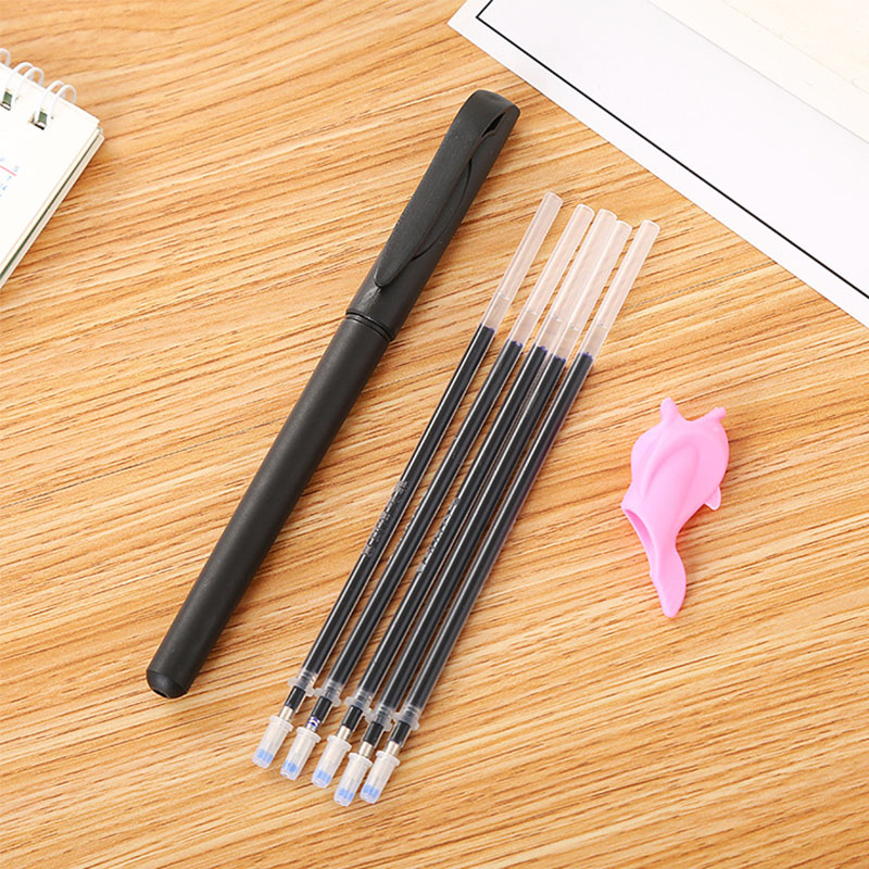 7Pcs/Pack Calligraphy Pen Disappearing Pen Automatically Disappears Ink Writing Corrector Blue Ink Student Stationery Supplies